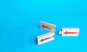 3方向の矢印